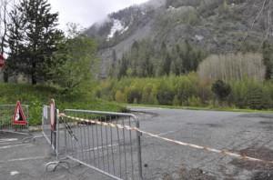 La frana del Mont di La Saxe, a Courmayeur (Ao foto ansa.itsta)